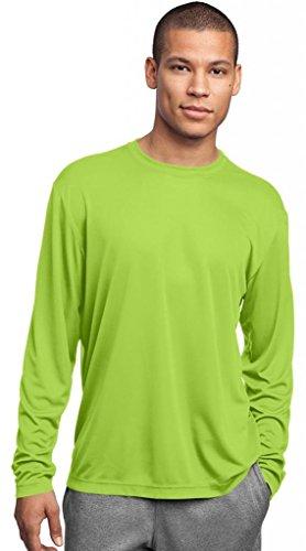 Sport-Tek Herren Asymmetrischer Langarmshirt Gr. Large, Grün - Lime Shock