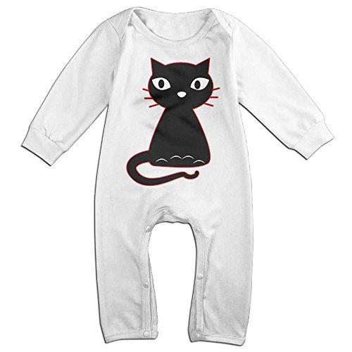 HOHOE Boy's & Girl's Fancy Cat Long Sleeve Bodysuit Outfits 12 Months