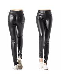CFR Lady Womens Fashion Faux Leather Jeggings High Waist Leggings Pants 7 Colors