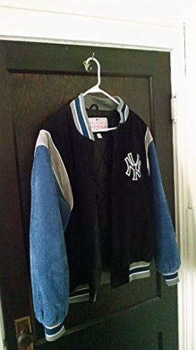 N.Y.YANKEES MEN'S LG 100% SUEDE LEATHER (Yankees Leather Jacket)