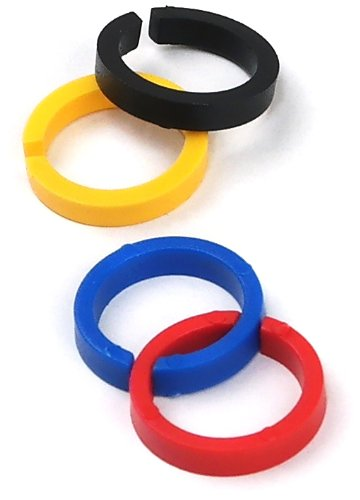 [해외]TEKNA 702735 PRO 및 ProLite 스프레이 건을위한 컬러 ID 링 키트/TEKNA 702735 Color ID Ring Kit for PRO and ProLite Spray Guns