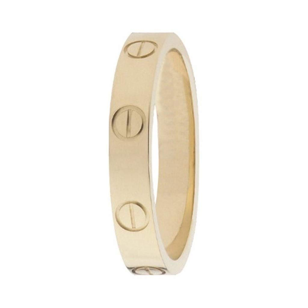 FHMZ Love Ring-Gold Lifetime Just Love You 4MM in Width Sizes 6