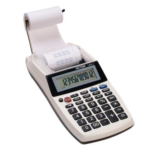 Portable Handheld/Desktop Loan Calculator, 12 Digit, Cost-Sell-Margin, AC/DC VCT12053