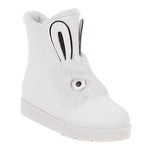 Mee Shoes Damen süß hidden heels kurzschaft Stiefel Weiß