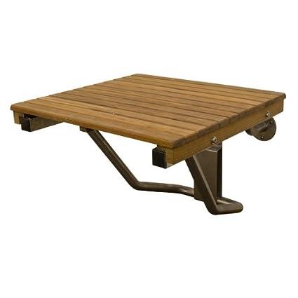 Amazon.com: Teak ADA Wall Mounted Shower Bench/Seat (18\
