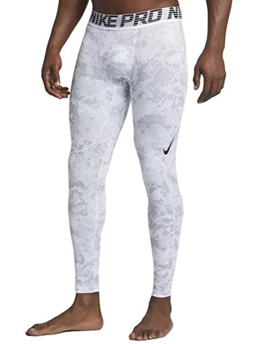NIKE Men's Pro Tights (X-Large, Clear White/Steam (Mens Pro Tight)