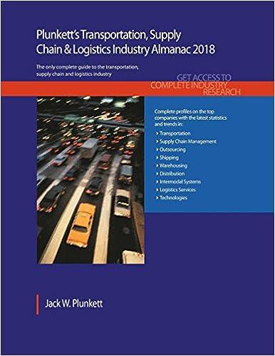 Plunkett's Transportation, Supply Chain & Logistics Industry Almanac