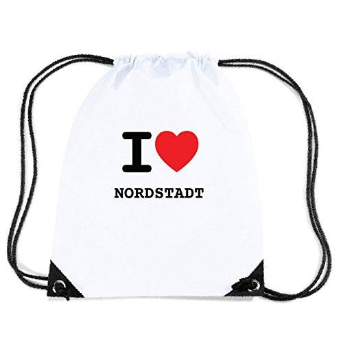 JOllify NORDSTADT Turnbeutel Tasche GYM747 Design: I love - Ich liebe LFrUM