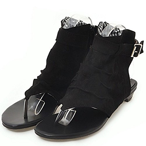 Clip Zapatos Zanpa Clasico Mujer Toe Plano Negro Sandalias nwATRx