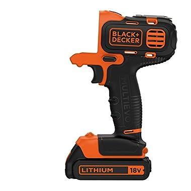 BLACK+DECKER MT218K-GB 18V 10mm Li-ion Cordless Multi-Evo Multitool Starter Kit with Drill Driver Head (Orange) 8