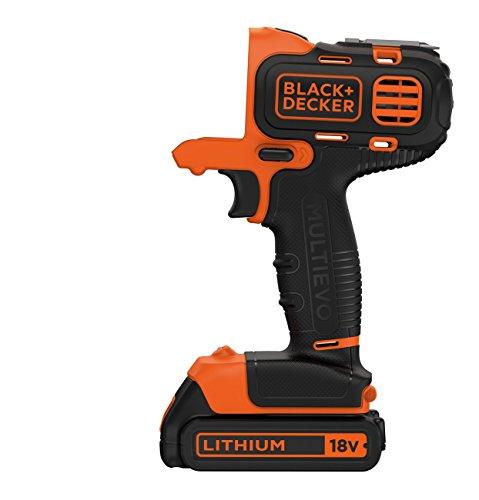 BLACK+DECKER MT218K-GB 18V 10mm Li-ion Cordless Multi-Evo Multitool Starter Kit with Drill Driver Head (Orange) 3