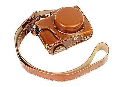Vollsohlensicherungen /Öffnungs Version Schutz-PU-Leder Kamera Tasche mit Stativ-Design-kompatibel f/ür Olympus OM-D E-M10 Mark 2 EM10 Mark II mit 14-42mm F3.5-5.6 EZ-Objektiv mit Schulter-Ansatz-B/ügel-Gurt Brown