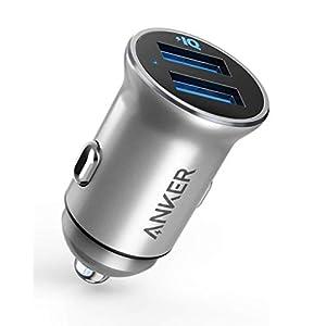 Anker PowerDrive 2 Alloy(24W 2ポートカーチャージャー)【PowerIQ搭載】