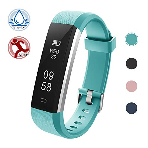 Lintelek Activity Tracker, Fitness Tracker Pedometer with Steps and Calorie Counter, Sleep Monitor Smart Bracelet for Android Phone or iPhone