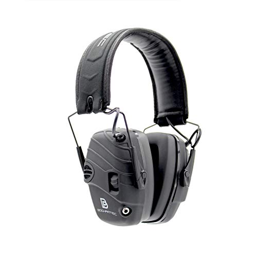 Bochamtec Norland Rubberized Coating Electronic Earmuff, Hearing Protection Noise Auto Compress & Reduction Sound Amplification,NRR25 Ideal for Shooting and Hunting (Black)