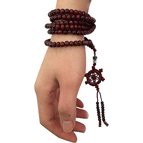 Tibetan Sandal Buddhist Buddha Meditation 216 Beads Prayer Bead Mala Bracelet