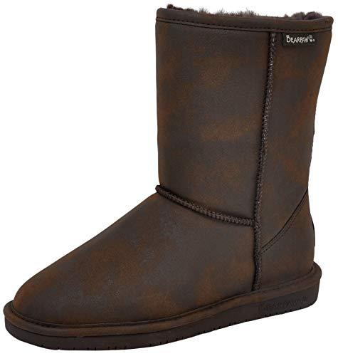 BEARPAW Women's Emma Short Winter Boot, Chocolate Smooth, 7.5 M US