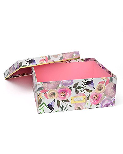 Large Storage Box - Pretty Blooms & Gold Foil