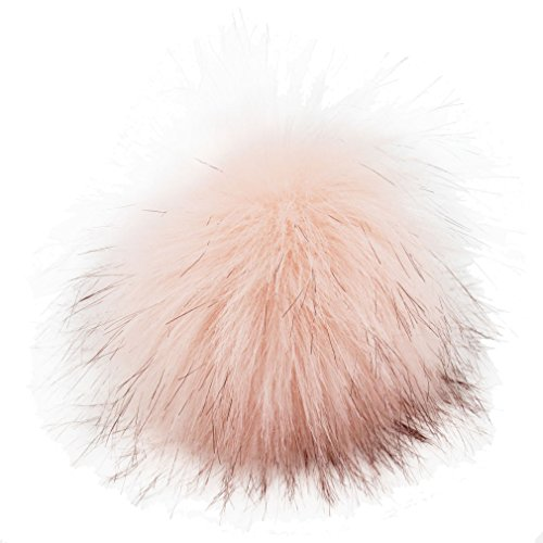DIY 12pcs Faux Fox Fur Fluffy Pompom Ball Mix Colors for Hats Shoes Scarves Bag Charms Accessories (Light (Light Pink Shoe Charms)