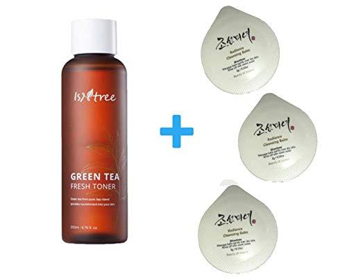 ISNTREE Green Tea Fresh Facial Toner 200ml, with Beauty of Joseon Cleansing Balm 3 x (3g) Deep Moisturizing | Sebum Control | Nourishing | Revitalizing | Hypoallergenic | Dermatologist Tested |