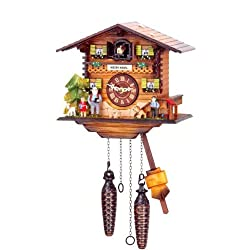 Original One Day Movement Cuckoo Clock as Heidi's House 8 Inch