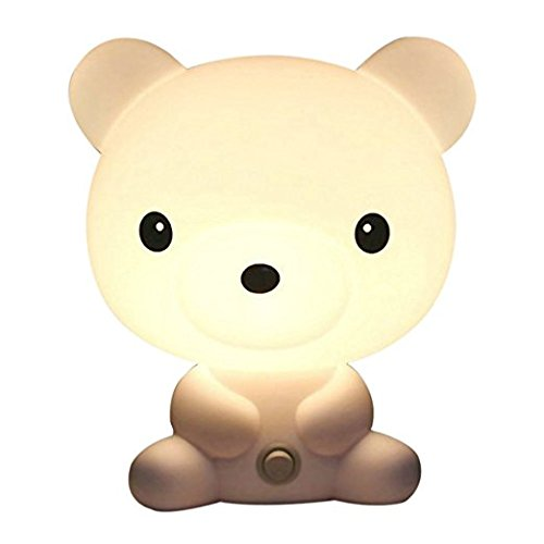 - Portable Baby Kid Sleeping Bedroom LED Glow Cute Bear Nursery Night Light Desk Table Lamp Travel Essential (Bear)