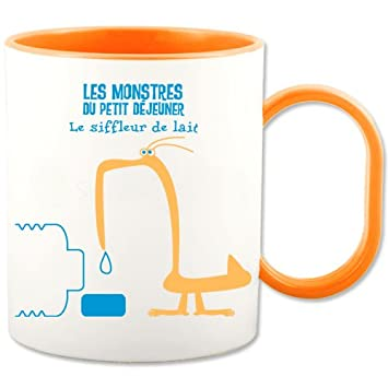 Et Enfant Mug Plastique Orange Pour Bicolore Blanc rQCBsthdx