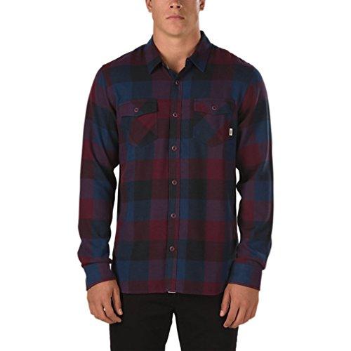 Vans Men's Box Flannel Plaid Long Sleeve Shirt (Port Royale, (Box Flannel)