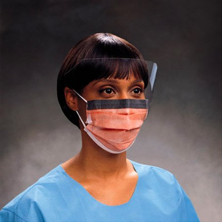 Fluidshield Fog-Free Procedure Mask W/Viso Bx/25