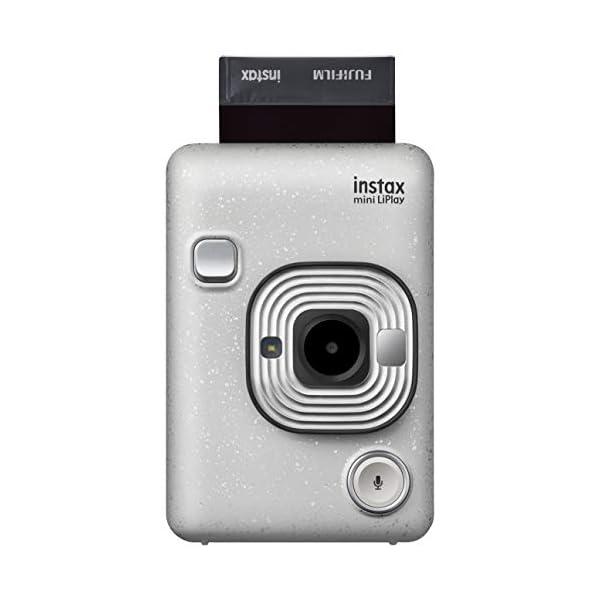 RetinaPix Fujifilm Instax Mini LiPlay Hybrid Instant Camera (Stone White)