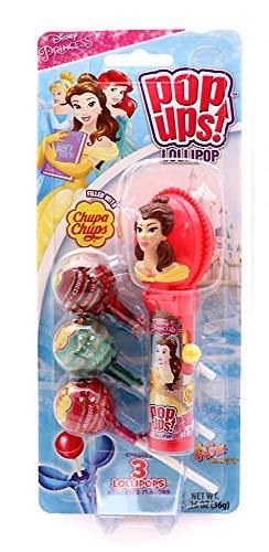 (Disney Princess Pop Ups Lollipop Case with Chupa Chups Lollipops (Belle))