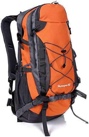 BAJIMI アウトドアハイキングキャンプ旅行40L登山スポーツナイロンバッグ男性と女性/オレンジのための防水バックパック