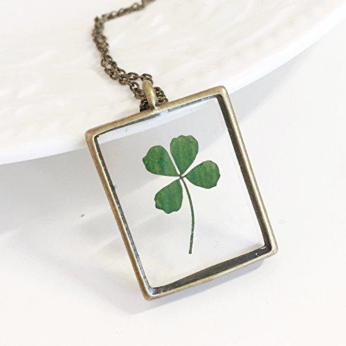 pressed leaf necklace - 9