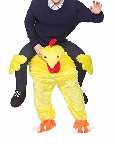 Novelty Carry Me Ride on Easter Mascot Costume Animal Funny Fancy Dress Pants-Yellow Chicken