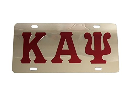 Kappa Alpha Psi Inlaid Mirror License Plate [Silver/Red - Car/Truck]