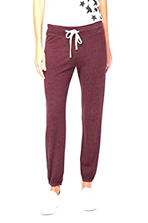 Sundry Womens Solid Sweat Pant Cranberry (2, Cranberry)