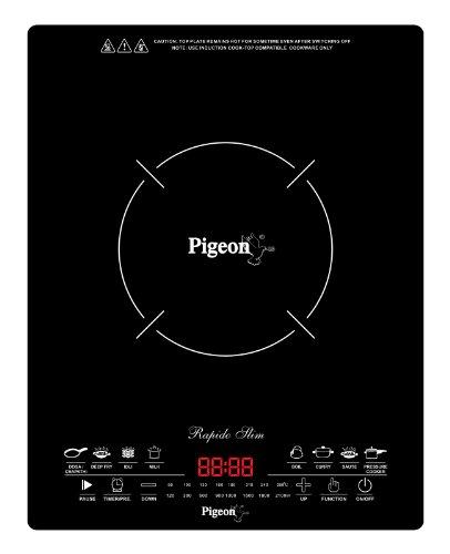 Pigeon Rapido Slim 2100-Watt Induction Cooktop, Black