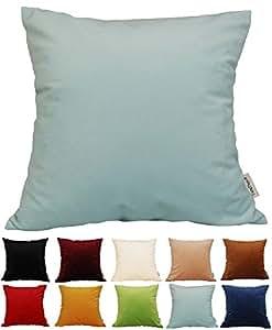 Amazon.com: TangDepot Solid Velvet Throw Pillow Cover/Euro Sham/Cushion Sham, Super Luxury Soft ...