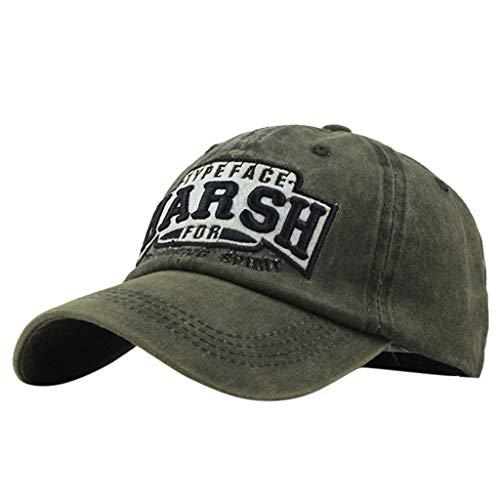 HARSH Embroidered Baseball Cap,Kanhan Fashion Unisex Cotton Casual Denim Visor Hat Cap (Green)