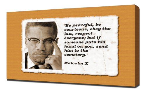 Malcolm X Quotes 2 - Canvas Art Print