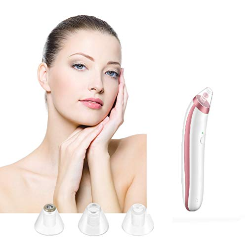 Blackhead Remover,Lyyes Facial Pores Cleaner Vacuum Extractor Comedo Suction Acne Facial Cleanser Tool (White&Rose)