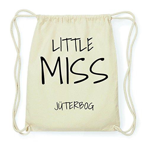 JOllify JÜTERBOG Hipster Turnbeutel Tasche Rucksack aus Baumwolle - Farbe: natur Design: Little Miss