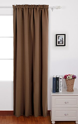 Deconovo Home Decoration Rod Pocket Curtains Thermal Insulated - Thermal Back Curtains
