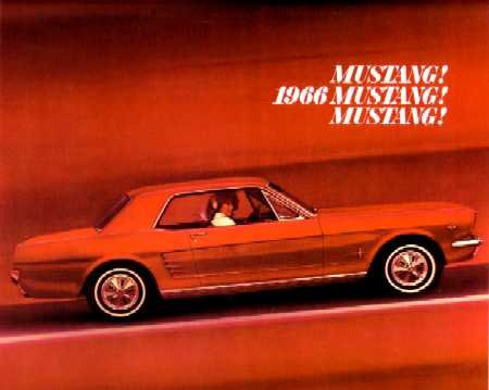 1966 FORD MUSTANG Sales Brochure Literature Book ()