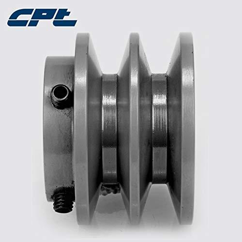 """Ochoos CPT 2BK28 v Belt sheave Pulley, Cast Iron, B Belt Section, 2 Grooves,2.95""""OD, bore 1/2"""", 5/8"""", 3/4"""", 7/8"""", 1"""", 1-1/8"""", 1-3/8"""" - (Bore Diameter: 1 inch)"""