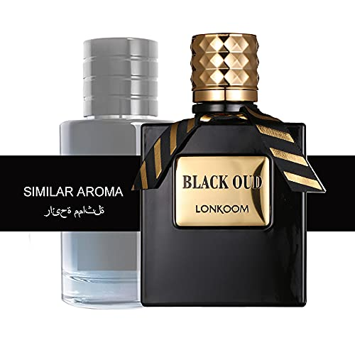 LONKOOM Perfume EDT Woody-Aromatic Aroma Eau De Toilette Oud Perfumes Fragrance For Men New Year gift for husband, Christmas Gift for husband100ml