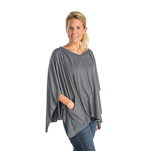 (Infantino 3-in-1 Nursing Shawl and Cover, Grey)