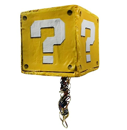 Question Block Pinata, Party Game, Photo Prop, Birthday Centerpiece and Room Decoration
