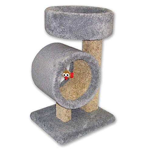 Round Perch - Beatrise Kitty Tunnel Cat Tree with Round Perch