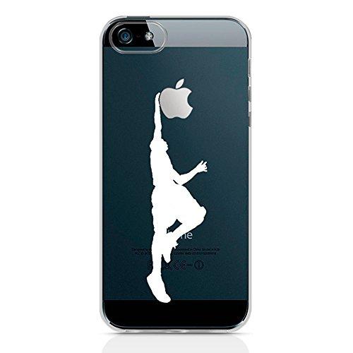 Ahujatech Slam Dunk clair Coque gel pour Apple iPhone SE/5S/5/5–Blanc/Silhouette